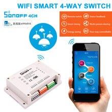 Интеллектуальный выключатель света sonoff 4ch r3/pro r3 wifi