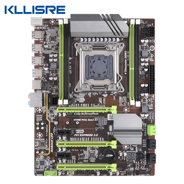 Kllisre X79 motherboard LGA2011 ATX USB3.0 SATA3 PCI E NVME M.2 SSD support REG ECC memory and Xeon E5 processor