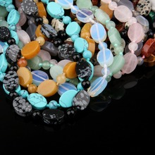 Wholesale Crystal Necklace Jewelry for Women Men 22 Colors Natural Stone Agates Quartz 18Inches