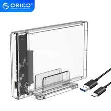 Orico 25 дюйма прозрачный корпус жесткого диска с подставкой