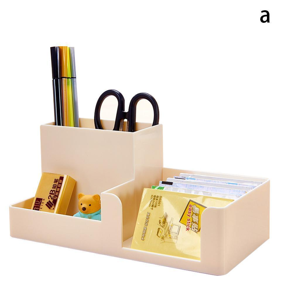 Vividcraft Multifunctional Pen Pencil Holder Candy Storage Plastic Stationery Container Pen Box Organizer Color Stand Desk H8U8
