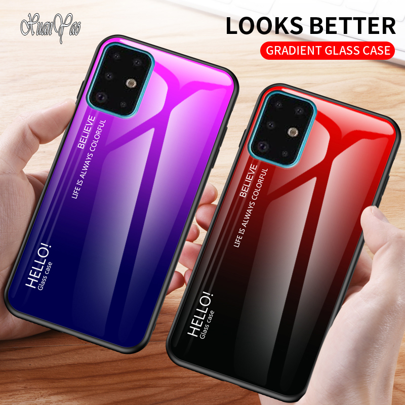 S8 S9 S10 S20 Plus Case XUANYAO Soft Edge Glass Coque For Samsung Galaxy S20 Ultra S20 S10 S9 S8 S7 Edge Case Hard Glass Cover