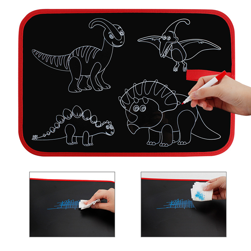 Children Portable Solid Sketchpad Kindergarten Early Childhood Educational Double-Sided Graffiti Painted Doing Homework Small Bl