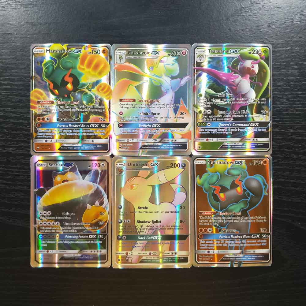 TAKARA TOMY Pokemon Flash Cards 120pcs 109 GX 11 Trainer Collections Battle Shining Card Board Game Children Toys Gifts
