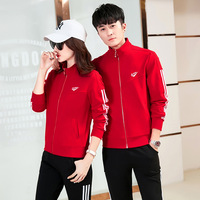 Running Sports Set Men's Spring and Autumn Long Sleeve MEN'S Wear Large Size Casual Clothing Women's Autumn New Style Couples Sp