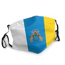 Bandeira da espanha oceano boca máscara facial adulto dos homens anti poeira máscara espanhola capa de proteção lavável respirador boca muffle