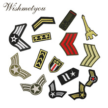 WISHMETYOU 1PC Military Badge Soldiers Embroidered Cloth Stickers Patches For Clothing Armband Clothes Accessories