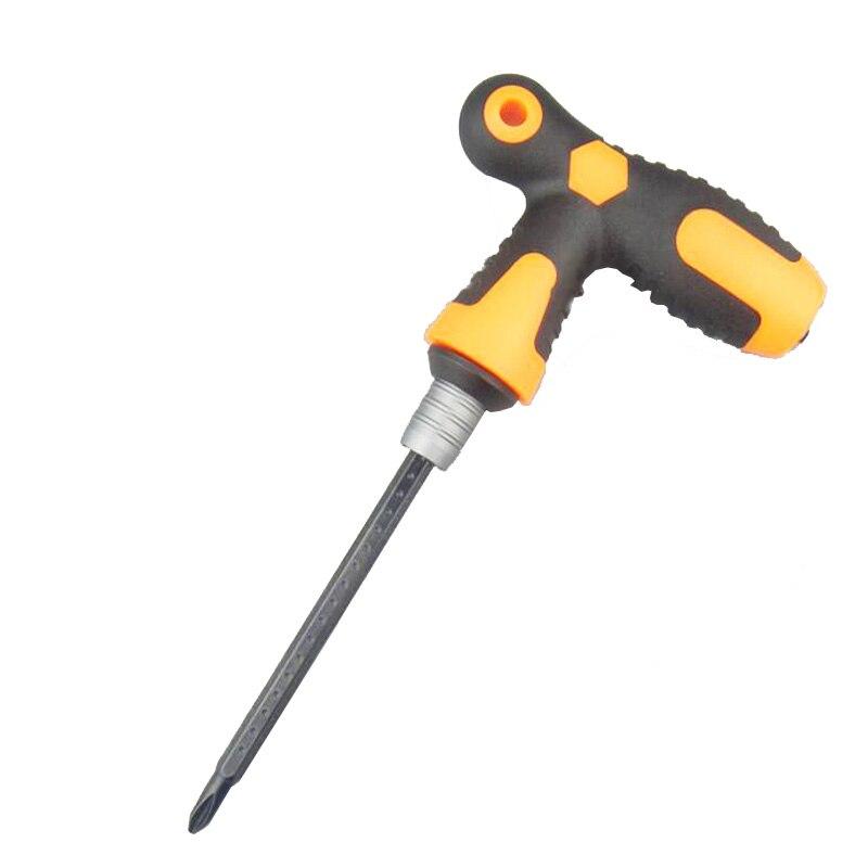 Vysoce kvalitní šroubovák typu T Protiskluzová legovaná ocel Multifunkční T rukojeť Ratchet Screwdriver Repair Hand Tools