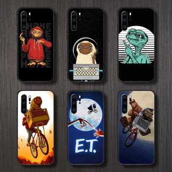 movie E.T. the Extra-Terrestrial Phone Case Cover Hull For Huawei P8 P9 P10 P20 P30 P40 Lite Pro Plus smart Z 2019 black hoesjes image