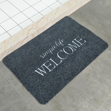 Black Entrance Doormat TPR Rubber Bathroom Kitchen Area Rugs Non-Slip Welcome Mat Mud-removing Sand-stripping Plant Floor Carpet