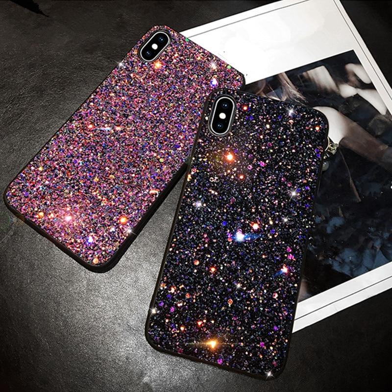 Luxus Mode Glitter Glänzende Cases Für iPhone 6 6S 7 plus 8 Plus TPU Abdeckung Zurück Für iPhone 11 pro max X 6 7 8 Plus telefon Fall