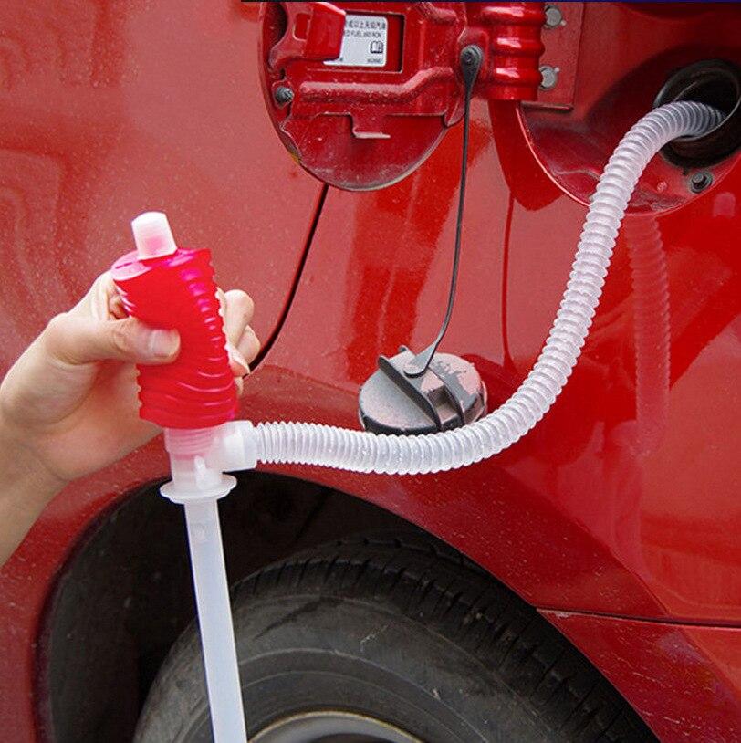 ポンプ転送燃料油吸盤液体トラックディーゼルマニュアルサイフォン吸引水液体ポンプ車のハンドオイルガスサイフォン