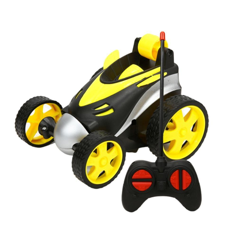 Wireless RC Car Tumbling Stunt Dump Truck Remote Control Toy For Children Kids