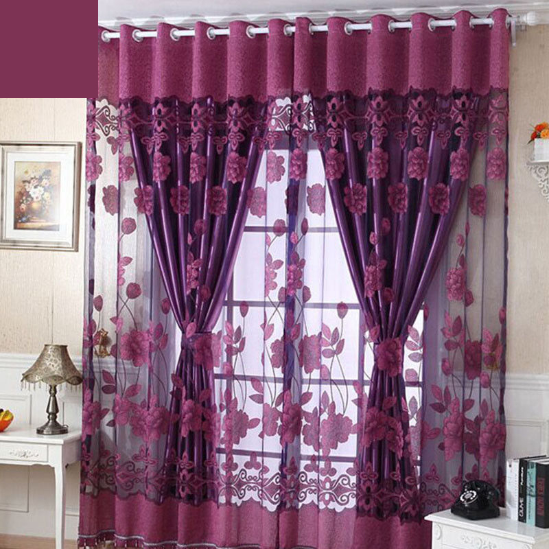 Backdrop Curtain Drapery Divider Voile Door See Through Living Room Bedroom