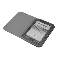 6 Inch 4GB Ebook Reader E-Ink Capacitive E Book Light Eink Screen E-Book E-Ink E-Reader MP3 with Case, WMA PDF HTML