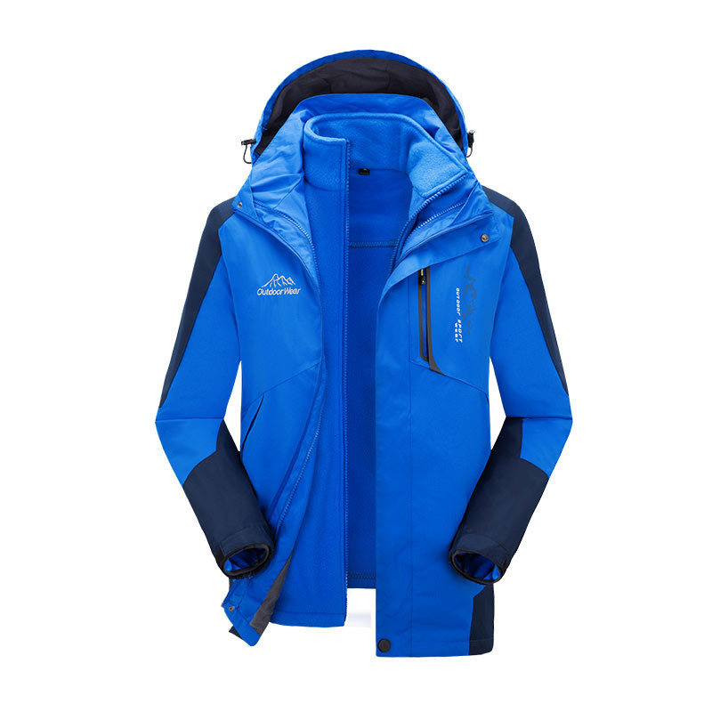 Outdoor Mountaineering Women's Waterproof Wind-Resistant Winter Fishing Riding Clothes Thick Ski COUPLE'S Three-in-One Raincoat