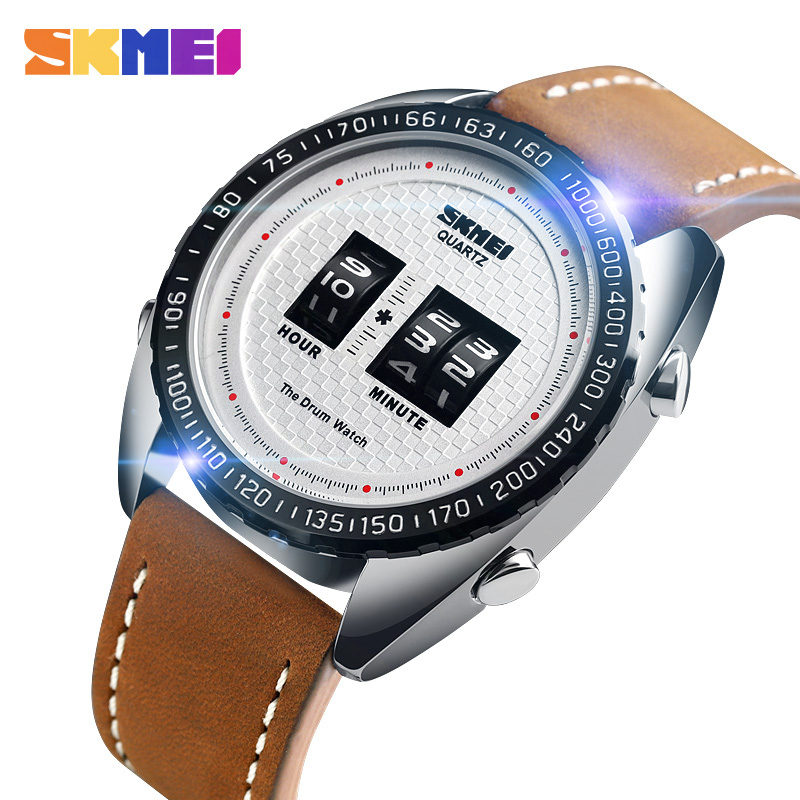<font><b>SKMEI</b></font> Business Watches Men Fashion Creative Quartz Watch Man Leather Strap Waterproof Quartz Wristwatches relogio masculino <font><b>1516</b></font> image