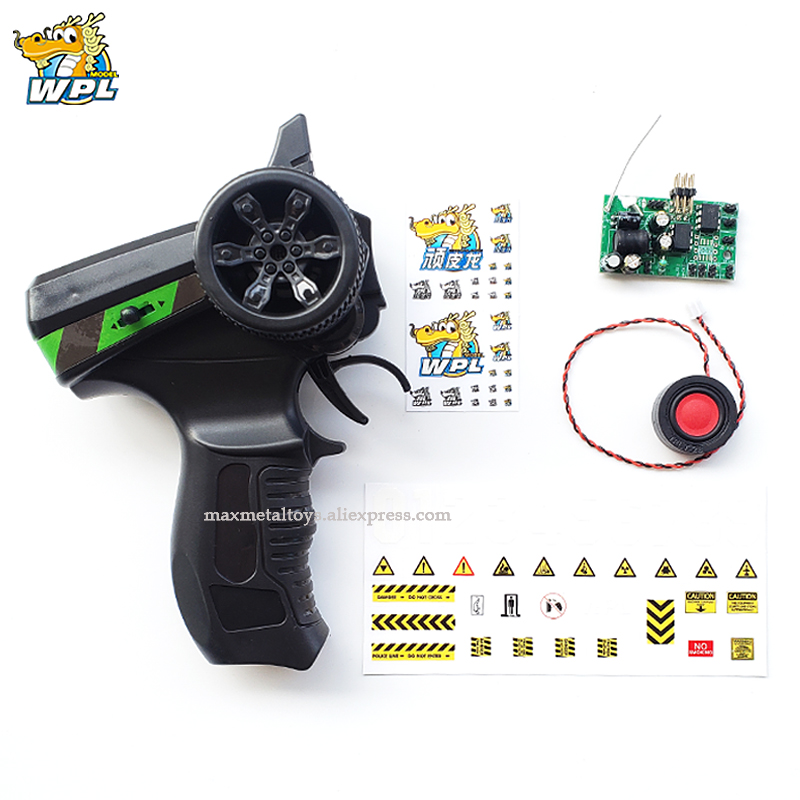 WPL Upgrade Control Control Sound System Transmitter DIY Receiver Board Horn Spare Parts Accessories Replacement For WPL Truck