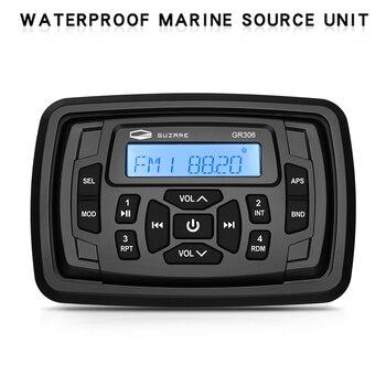 עמיד למים ימי סטריאו Bluetooth רדיו אודיו קול מערכת FM AM אוטומטי מקלט סירת רכב MP3 נגן עבור RV טרקטורונים משאית אופנוע
