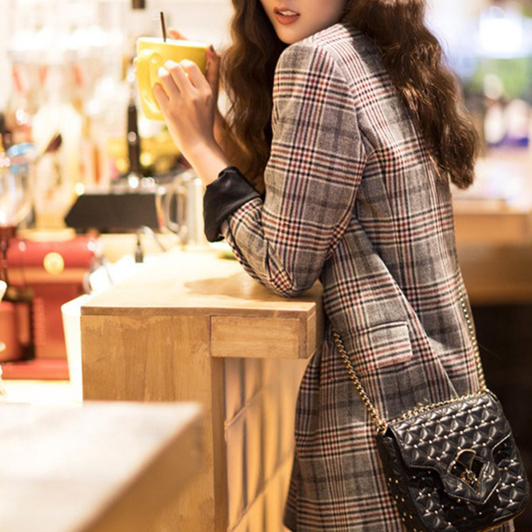 The Star Has The Same High end Suit The Same New Plaid Suit The Women Outfits Are 2019 Notched Plaid Women Jackets and Coats in Blazers from Women 39 s Clothing