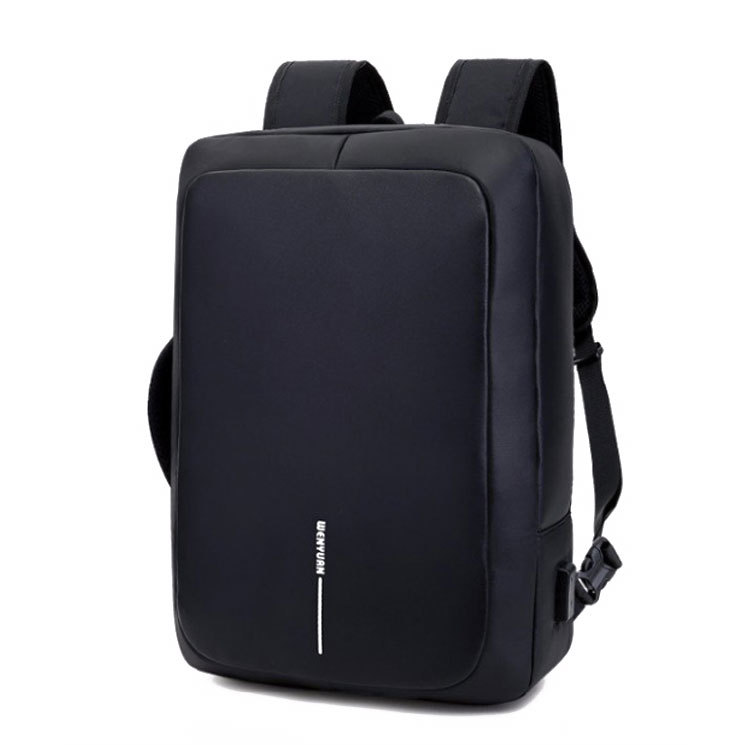 Wholesale 2019 New Style Fashion Lovers Backpack Multi-functional Breathable PU Leather Backpack Solid Color Men's Bag
