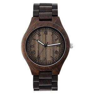 Image 1 - Montre en bois de marque Design rétro élégant bois montres japon citoyen mouvement hommes montres à Quartz cadeau pour hommes