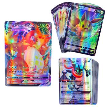 450 PCS wersja francuska karta pokemonowa z 100 tagami Team 200 G x 110 V 40 VMAX tanie i dobre opinie TAKARA TOMY CN (pochodzenie) pokemoning carte francaise 14 lat i więcej Europa certyfikat (CE) Zwierzęta i Natura