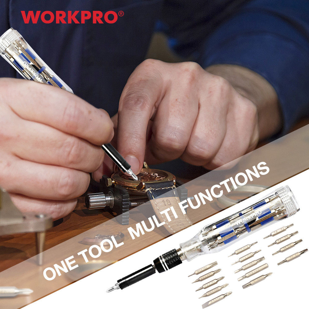 WORKPRO Precision Screwdriver Set 28-in-1 Screwdriver Timepiece Quick Change Mini Screwdriver For Phones Multi Repair Tool Set