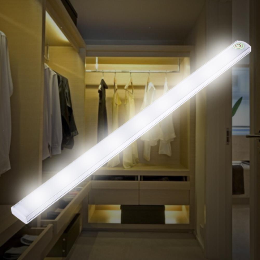 Sensor de movimiento largo luz LED regulable bajo la luz del Gabinete luz de la cocina lámpara de noche luz rígida de la barra SHGO-Invisible oculta RFID libre apertura inteligente Sensor armario cerradura armario guardarropa cajón del Gabinete Zapatero cerradura de puerta