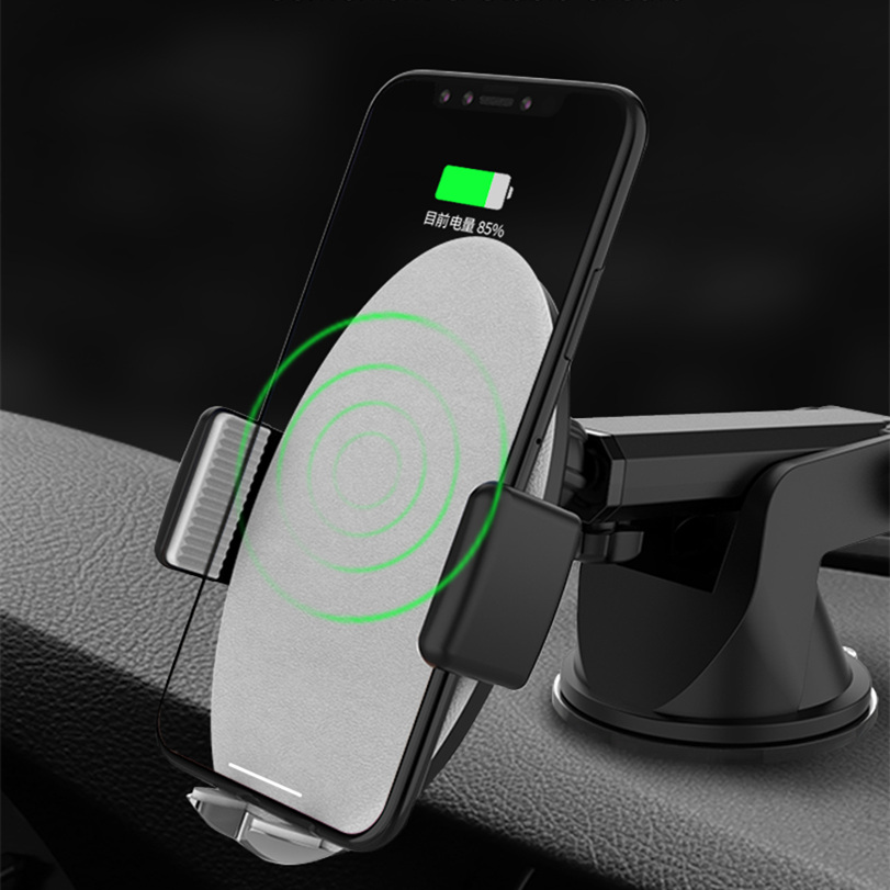 Car Phone Holder for iPhone Samsung Intelligent Infrared Qi Car Wireless Charger Air Vent Mount Mobile Phone Holder Stand