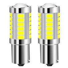 2 шт., Автомобильные светодиодные лампы Canbus 1156 BA15S P21W