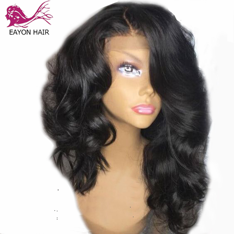 EAYON HAIR Loose Wave 13x6 Lace Front Human Hair Wigs Pre Plucked Fake Scalp Lace Wig With Baby Hair Brazilian Remy Hair 150% De
