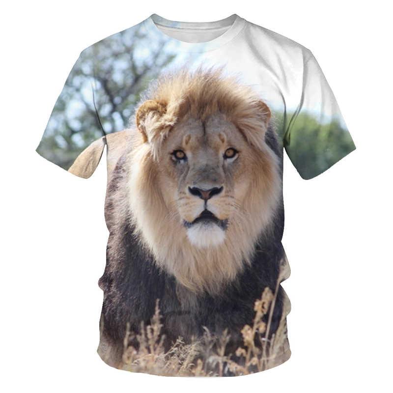Impressão digital design de moda esportes de verão camisa de manga curta 3d animal tigre rei camiseta