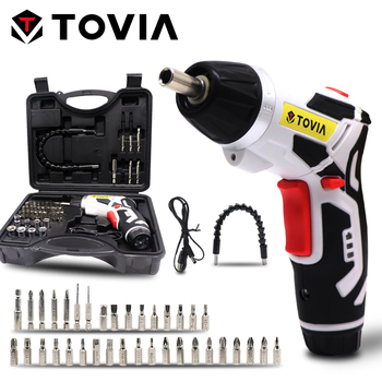 цена на TOVIA 6N.m Electric Screwdriver Torque Power Lithium Cordless Screwdriver Mutifunction Battery Screwdriver With LED