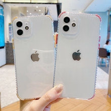 Soft Candy Color Transparent Phone Case For iPhone 11 12 Pro Max XS X XR Max Mini 7 8 Plus SE 2020 Shockproof Bumper Back Cover