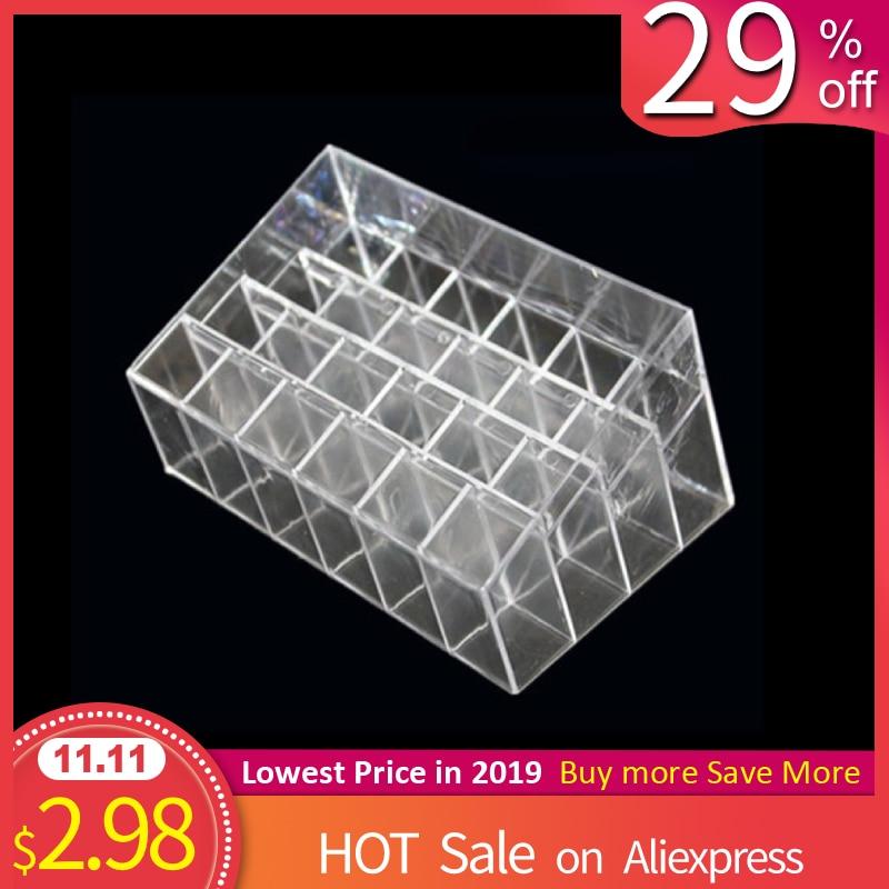 24 Grids Lipstick Holder Makeup Lipstick Display Stand Storage Rack Makeup Organizer Acrylic Storage Box