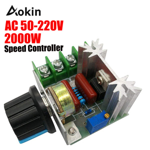 Speed controller AC 25A 50-220 V Engine Controller 2000 W SCR High Power Module Electric Voltage Regulator LEVOU Dimmers engine(China)