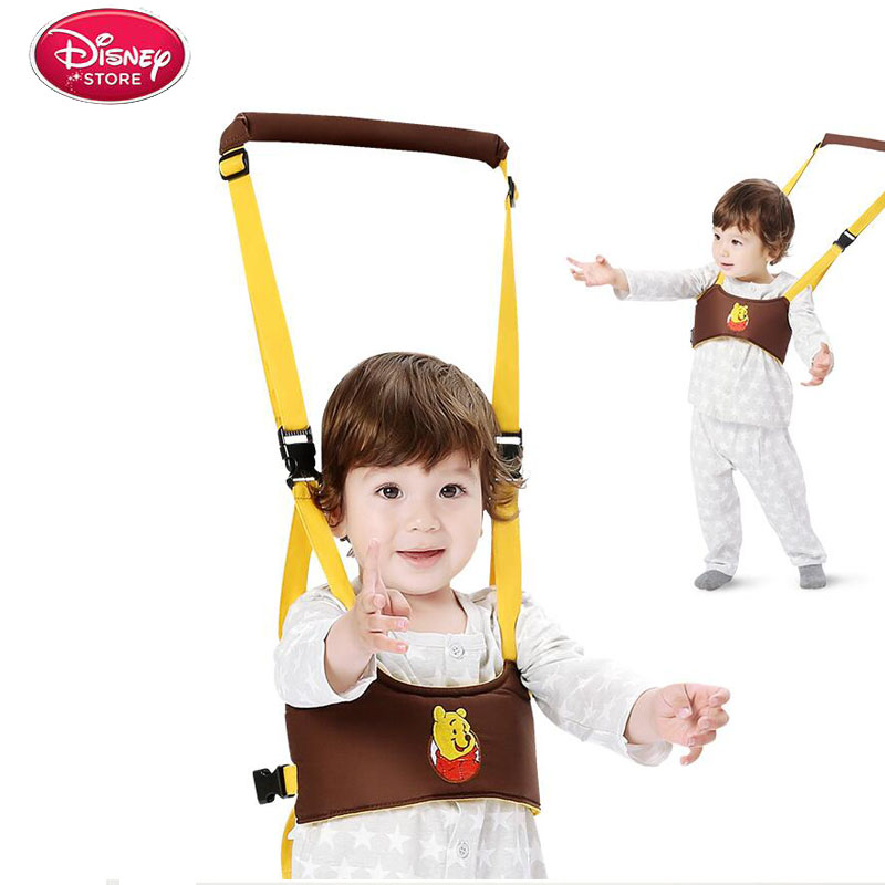 Disney Cartoon Baby Walker Auxiliary Belt Pull Portable Carrier Tractor Child Toddler