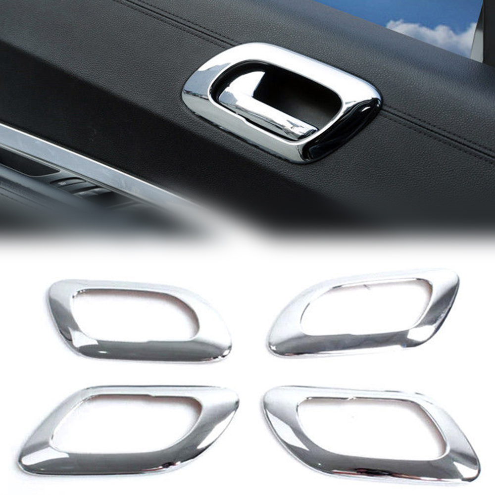 4 Uds ABS cromo Interior de la puerta cubierta de marco de tirador cuenco accesorios de diseño de coche para Peugeot 3008 2009-2015 Nuevo Multi Color USB Iluminación led interior de coche Kit atmósfera luz neón lámparas