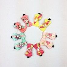 купить 1 Pcs/lot Ribbon Bow Heart Hairpins Hair Barrettes Children Accessories Cute Kids Girls Headwear Hair Clip дешево