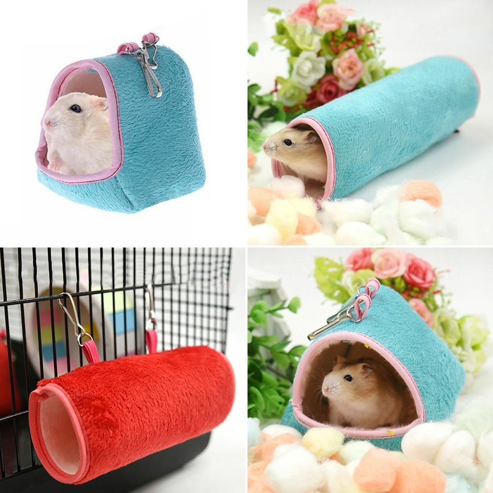 Hamster Hanging House Hammock Cage Sleeping Nest Pet Bed Rat Hamster Toys Cage Swing Pet Banana Design Small Animals