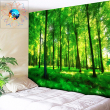 Sunshine Forest Tapestry Living Room Mandala Tapestry Wall Hanging Hippie Psychedelic Tapestry Boho Home Decor tapisserie murale