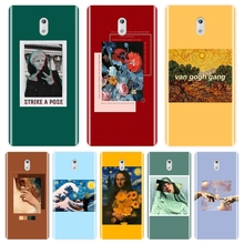 Back Cover For Nokia 1 2 3 5 6 8 Soft Silicone Yellow Van Gogh Red Art Mona Lisa Purple Phone Case For Nokia 7 Plus X6 Case