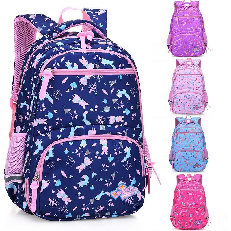 Girls Sweet Floral School Bags Large Capacity Cartoon Backpack for Teenagers Bagpack Children Student Primary School Backpacks