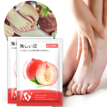 EFERO Exfoliation for Feet Mask Remove Dead Skin Heels Foot Peeling Mask for Leg Exfoliating Foot Mask Pedicure Socks Foot Patch 4 pairs exfoliating foot mask sock pedicure socks exfoliation for feet mask heels foot peeling remove dead skin mask for legs