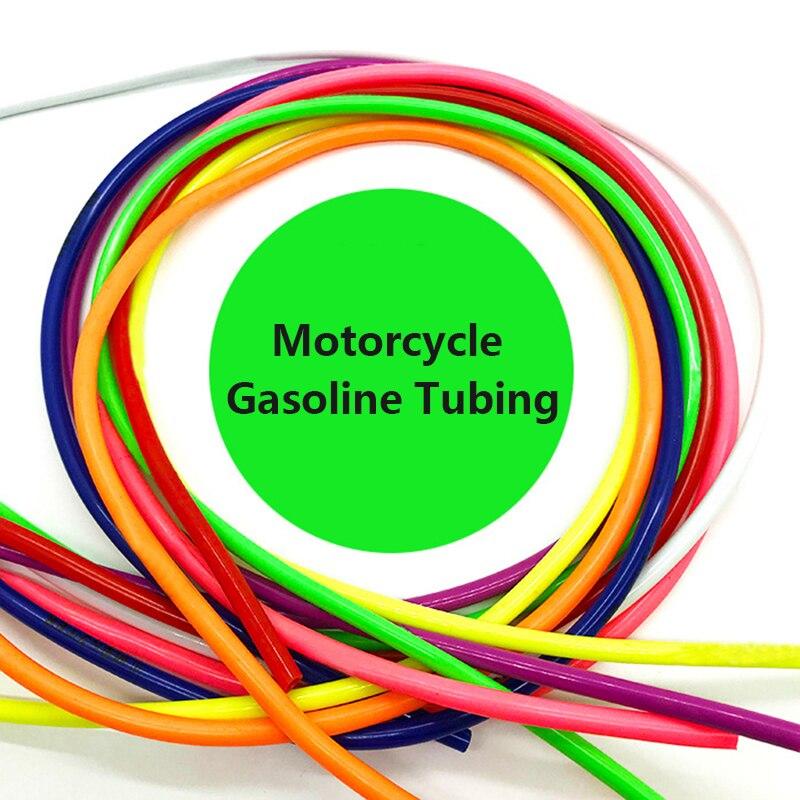 Motorcycle Hose 1Meter 1M Petrol Fuel Line Hose Gas Oil Pipe Tube Nylon Soft For Mini Moto Dirt Bike Honda Suzuki Yamah Dropship