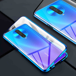 Image 3 - Magnetic Filp Phone Case For Xiaomi Redmi K30 K20 Double Glass Metal Case on redmi 8 8a note 8T 8 7 Pro Protective Coque Cover