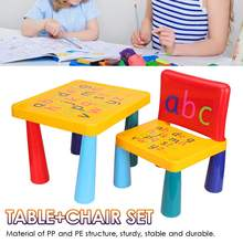 Colorful Kids Chair Table Plastic Children Play Study Desk A