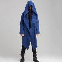 Fashion Women Men Outwear Hooded Coat Long Trench Warm Casual Cloak Cape