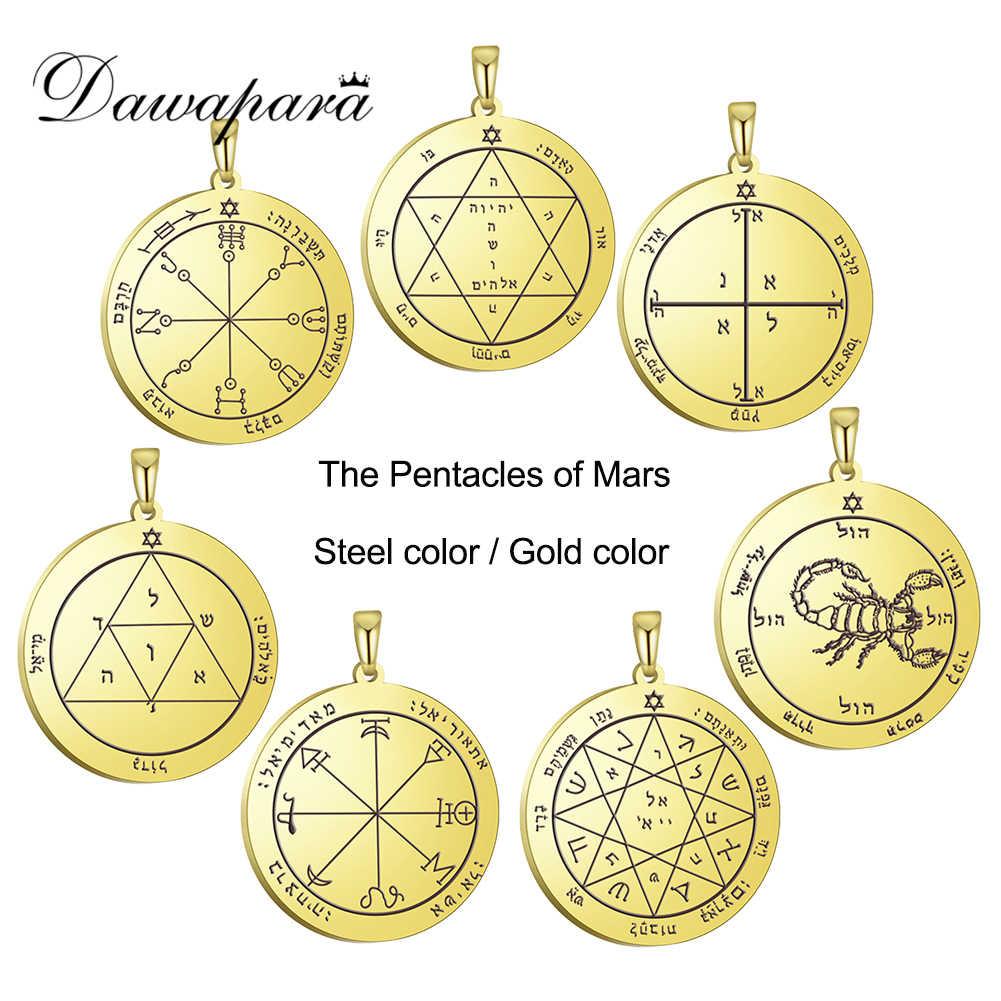Dawapara klucz salomona pentagram Amulet DIY wisiorek na naszyjnik przed chorobami zachowaj zdrowe akcesoria talizman